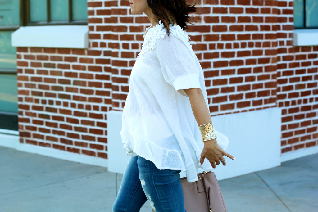 white flowy top, chicwish, itsy bitsy indulgences