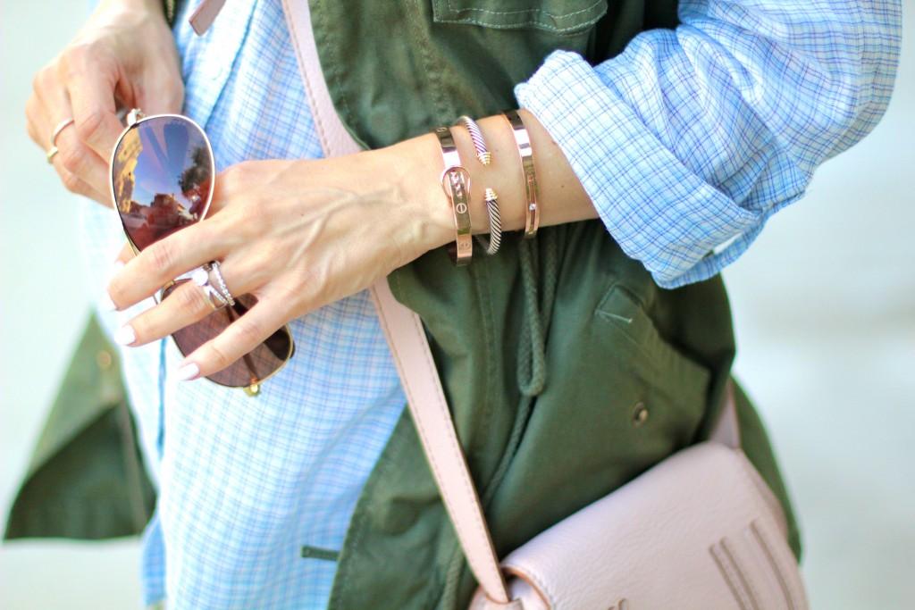 the peach box rose gold bracelets, itsy bitsy indulgences