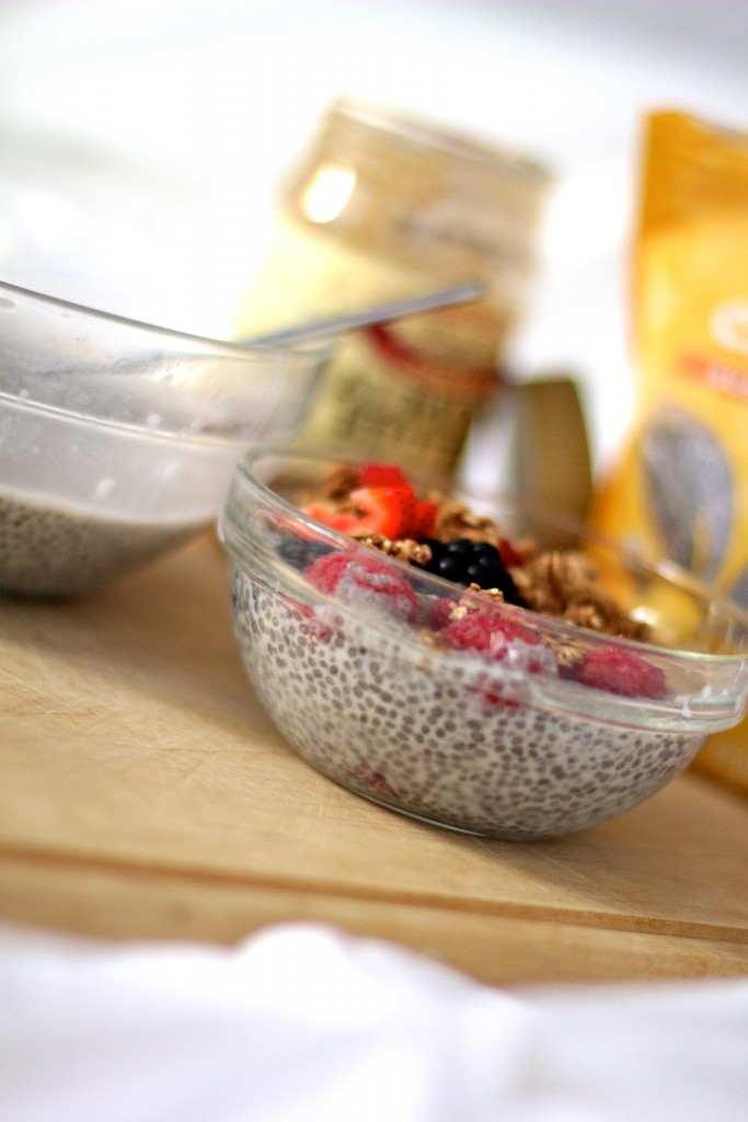 almond milk chia seed pudding, itsy bitsy indulgences