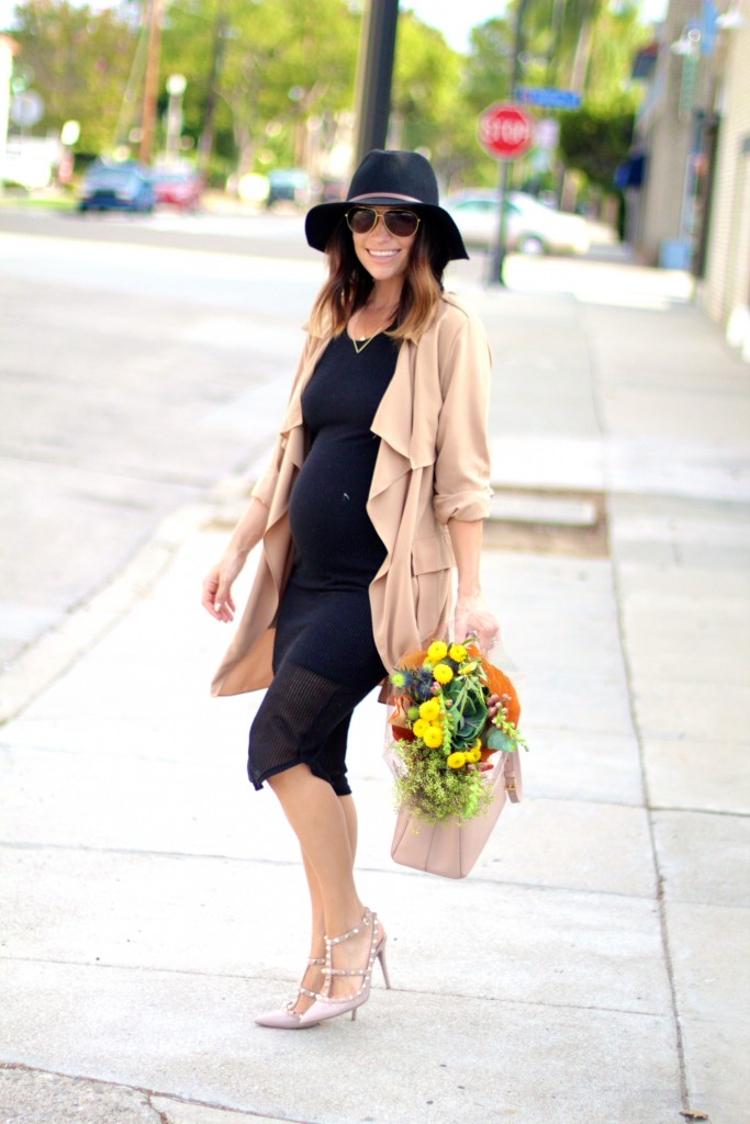 lbd with trench coat, itsy bitsy indulgences