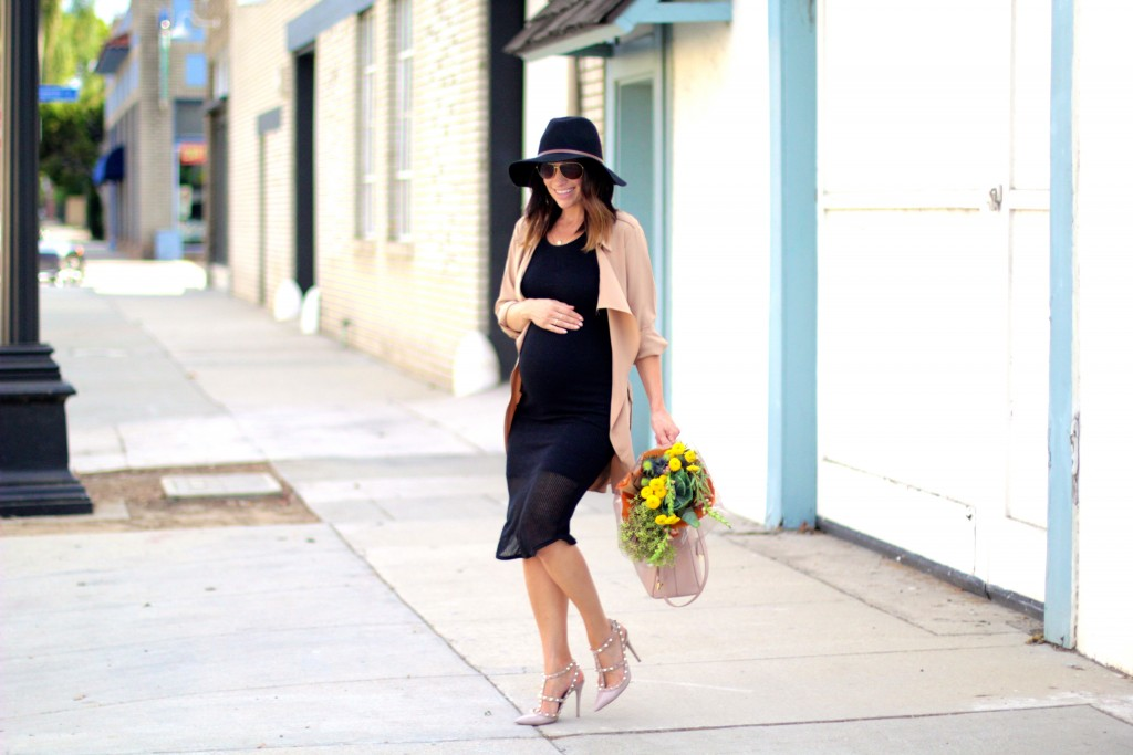 little black dress, baby bump style, itsy bitsy indulgences
