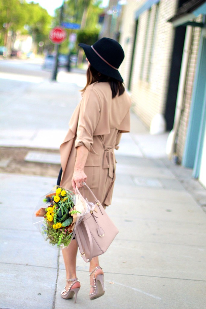belted trench coat, itsy bitsy indulgences