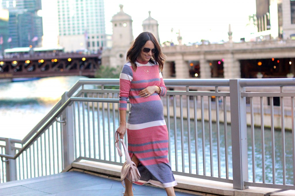 knit dress, pregnancy style, itsy bitsy indulgences