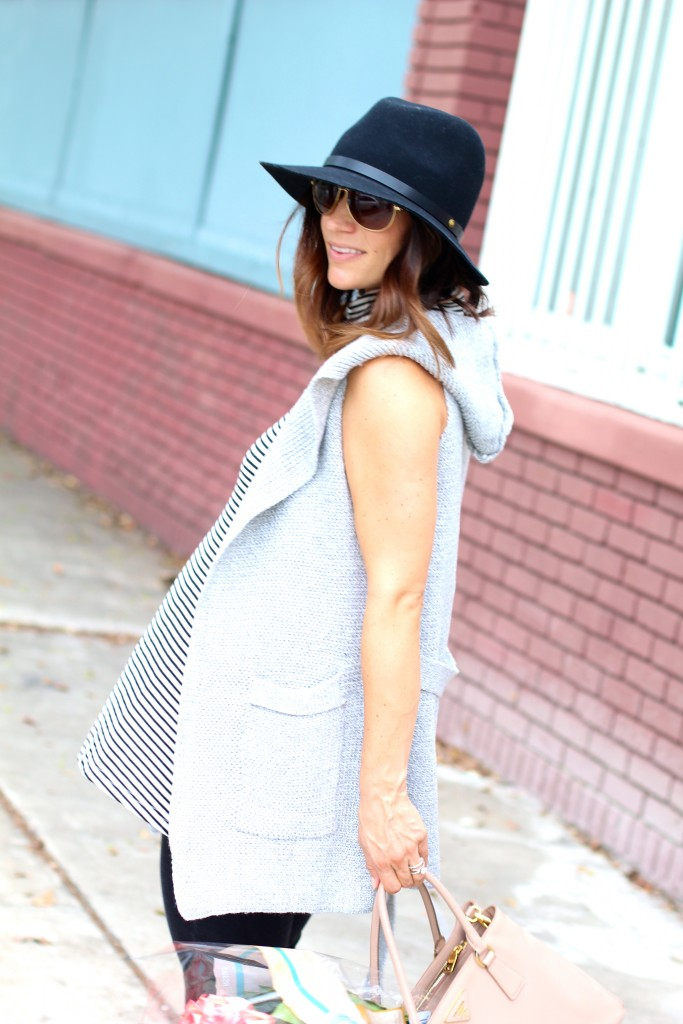 grey sweater vest, pregnancy style, itsy bitsy indulgences