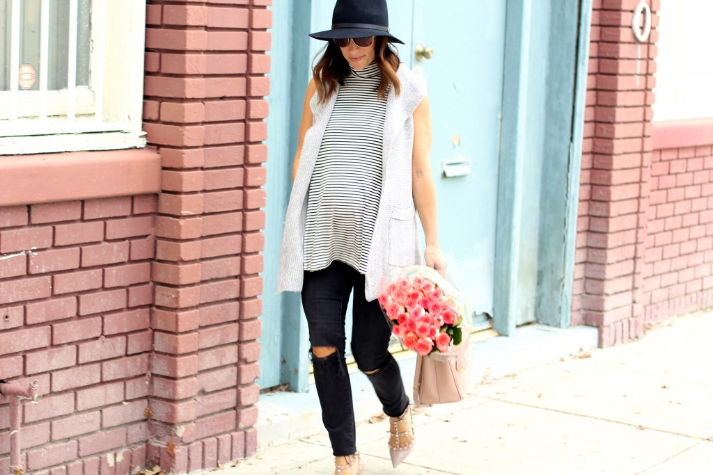 stripe swing tank, pregnancy style, itsy bitsy indulgences