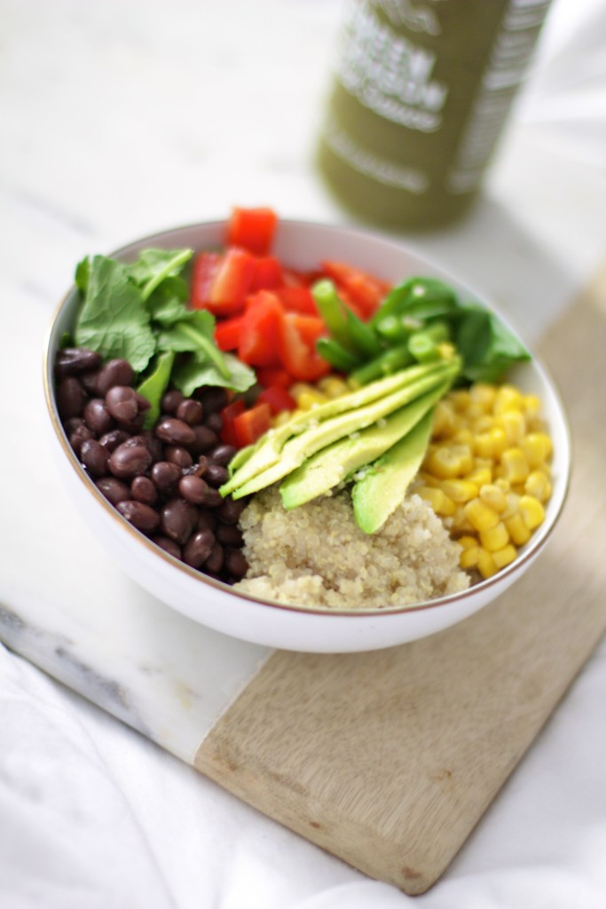 black bean and quinoa lunch power bowl, clean eating, itsy bitsy indulgences
