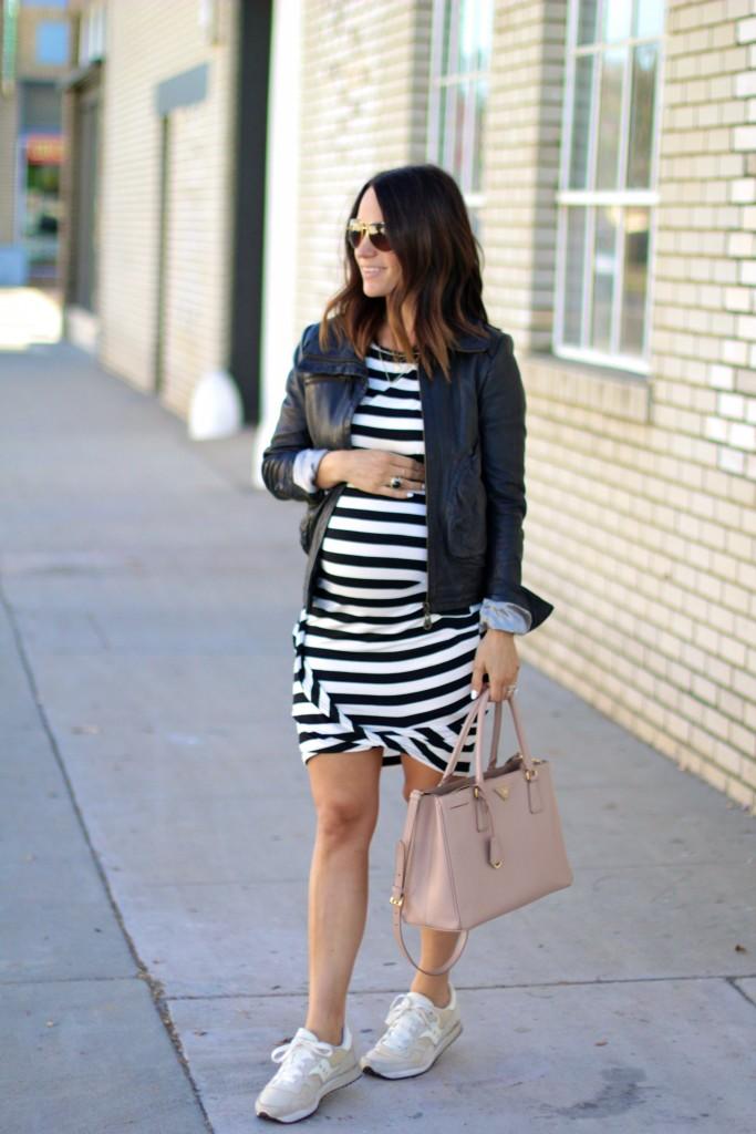 black and white bodycon dress, baby bump style, itsy bitsy indulgences