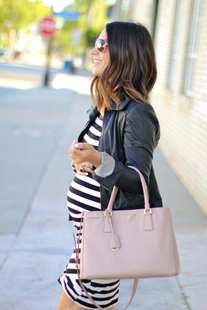 pregnancy style leather jacket, itsy bitsy indulgences