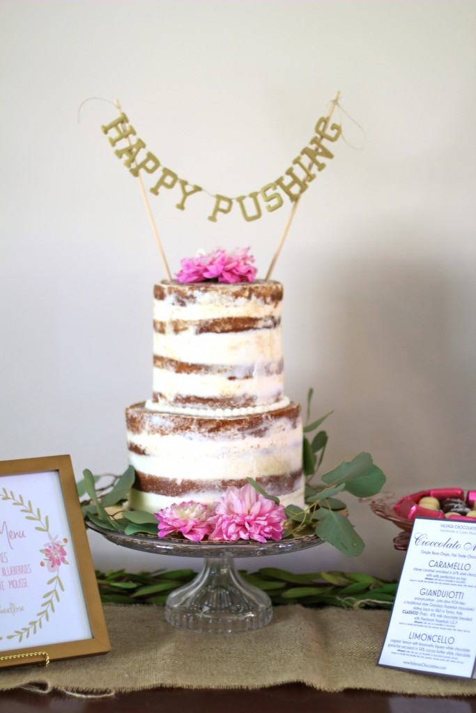 naked cake baby shower, itsy bitsy indulgences