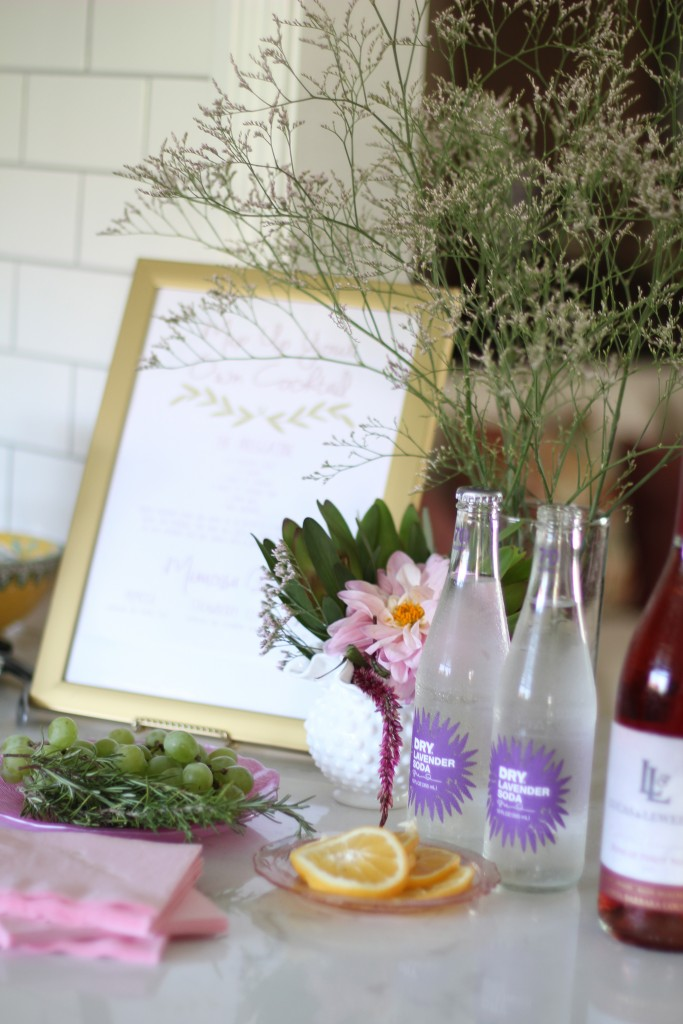cocktail menu, rustic backyard baby shower, itsy bitsy indulgences