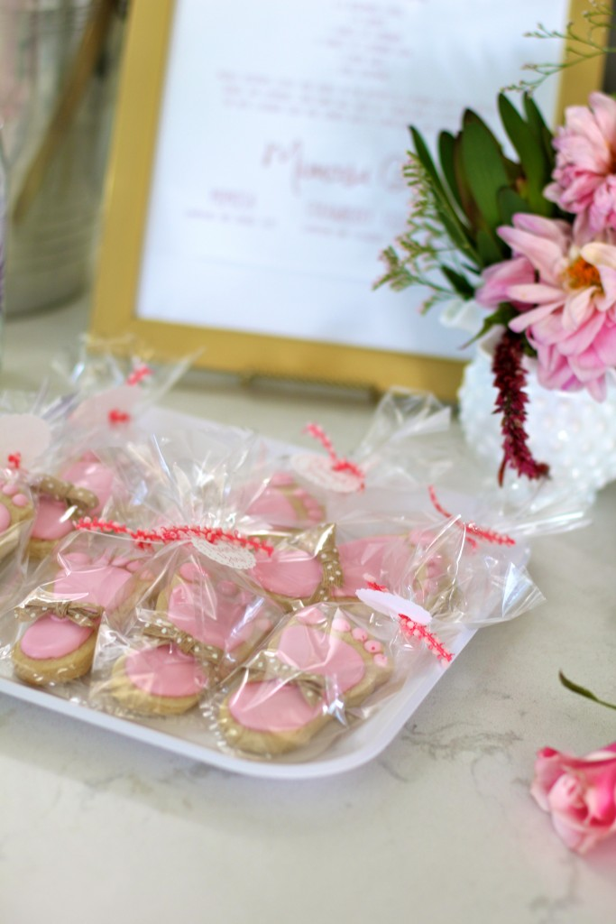 tiny feet cookies, baby shower, itsy bitsy indulgences