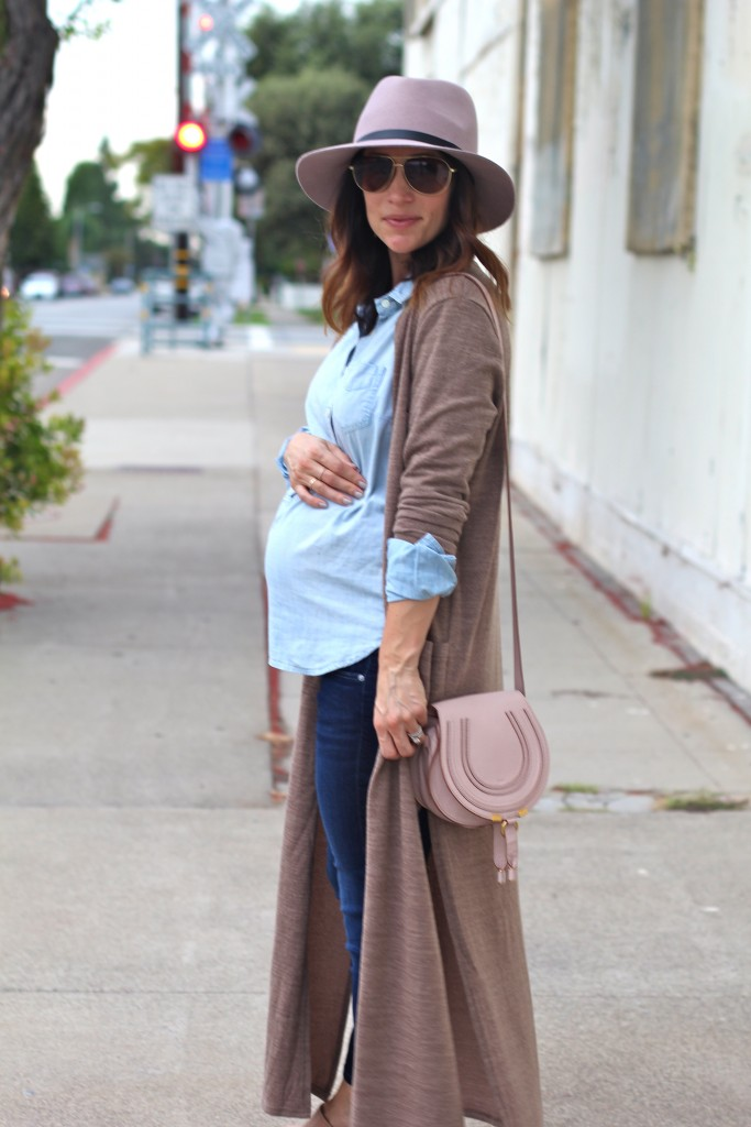 long cardigan, baby bump style, itsy bitsy indulgences