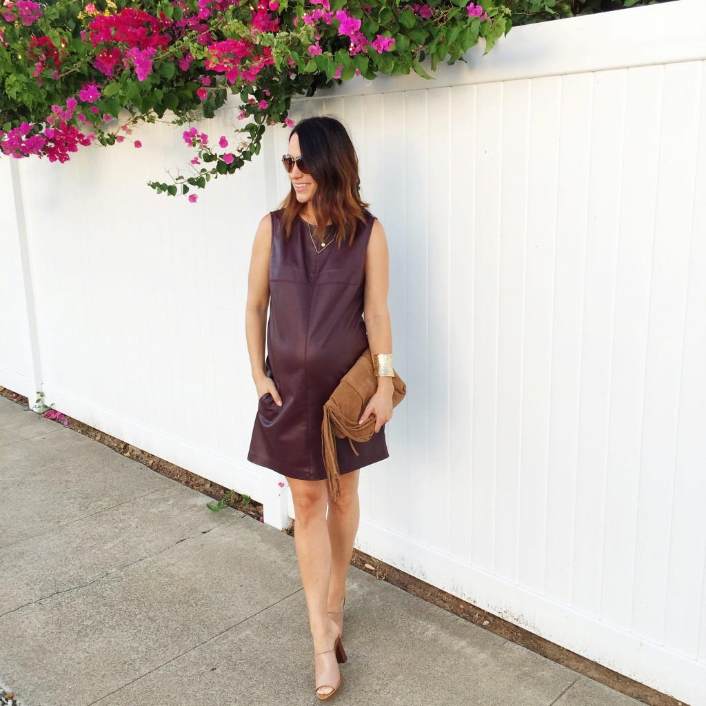 leather mini dress, itsy bitsy indulgences