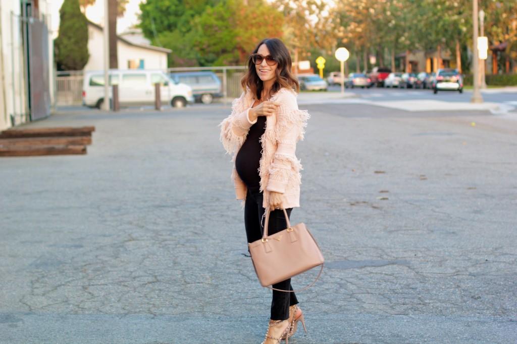 pink fringe coat, itsy bitsy indulgences