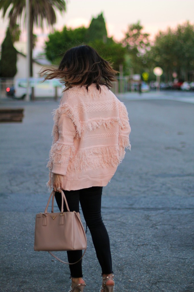 pink fringe jacket, itsy bitsy indulgences