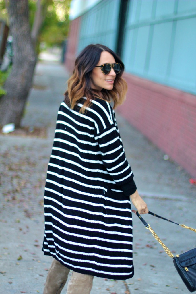 black and white long cardigan, itsy bitsy indulgences