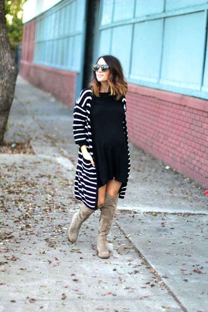 over the knee boots, lbd, itsy bitsy indulgences