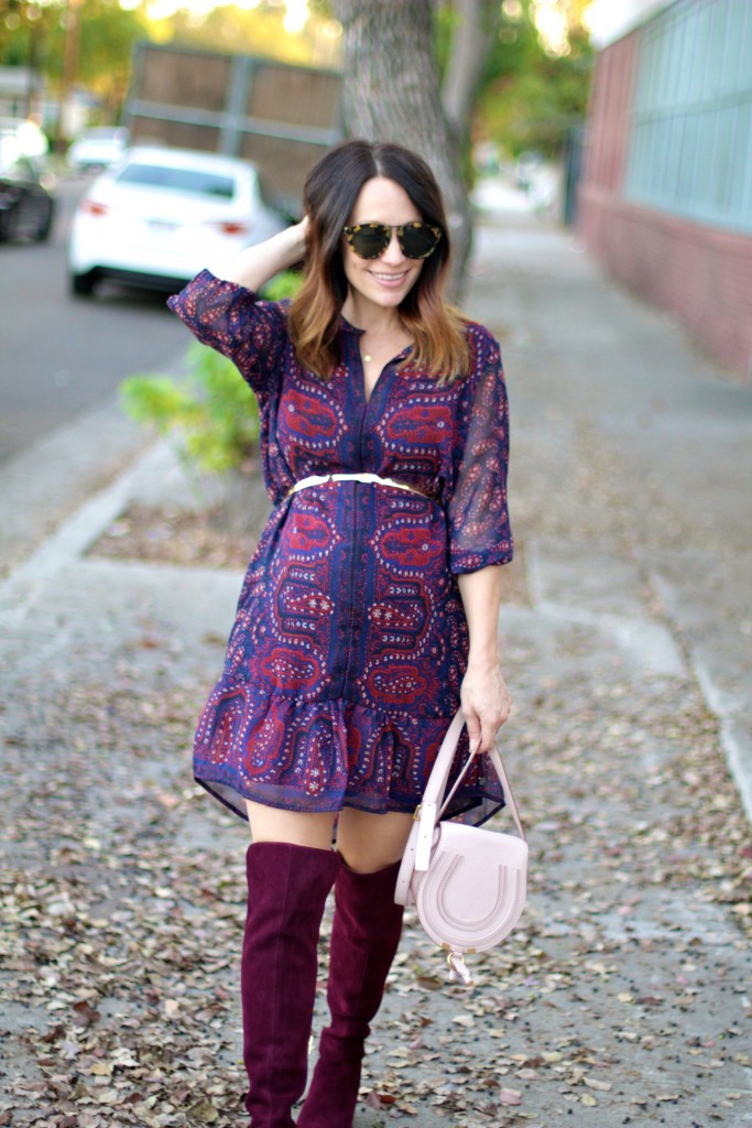 over the knee boots, pregnancy style, itsy bitsy indulgences