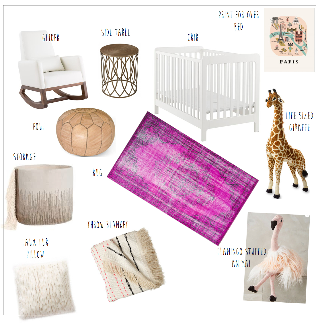 Inspiration Board For Baby Nursery