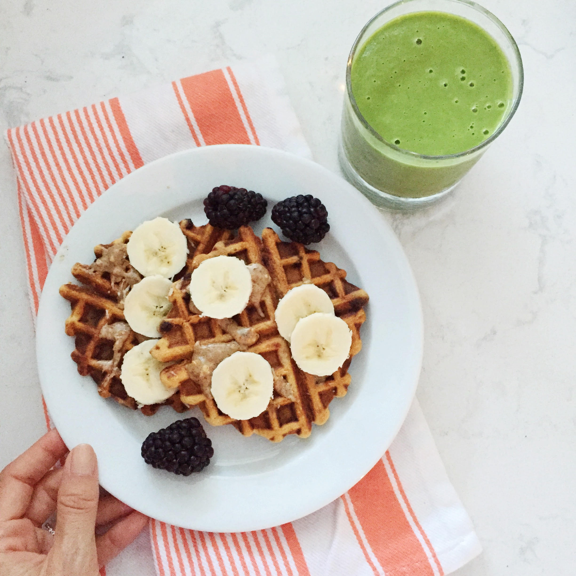 5 day meal plan, double dose bakery waffles
