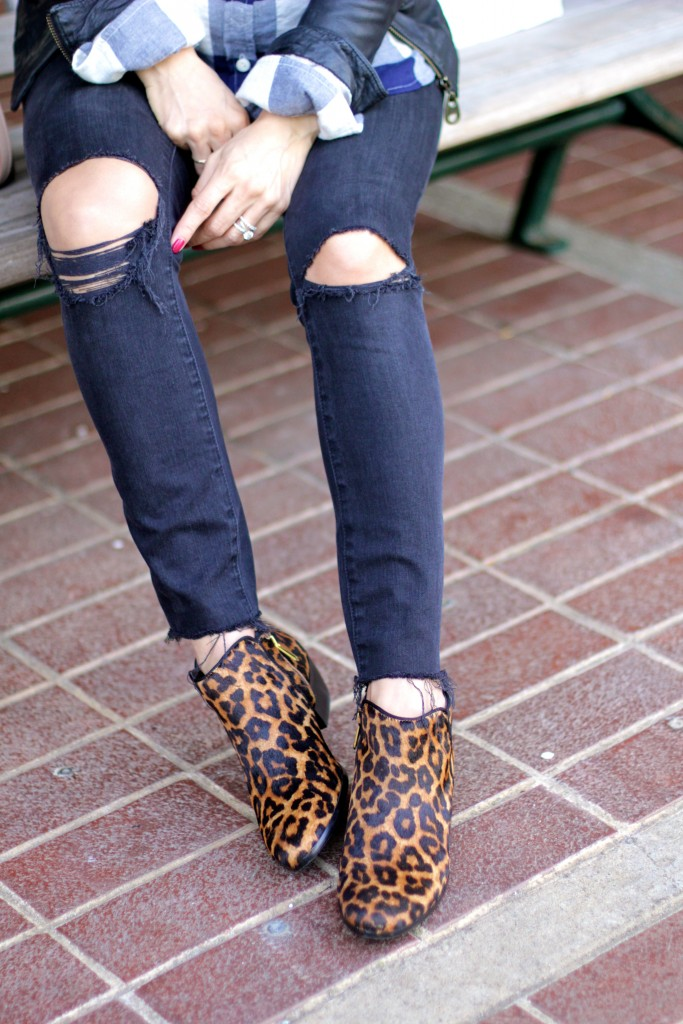 distressed denim with leopard booties, itsy bitsy indulgences