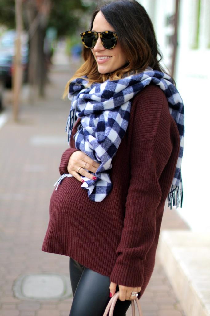 pregnancy style, boyfriend sweater, itsy bitsy indulgences
