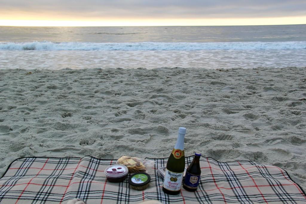 sunset picnic, carmel ca, itsy bitsy indulgences
