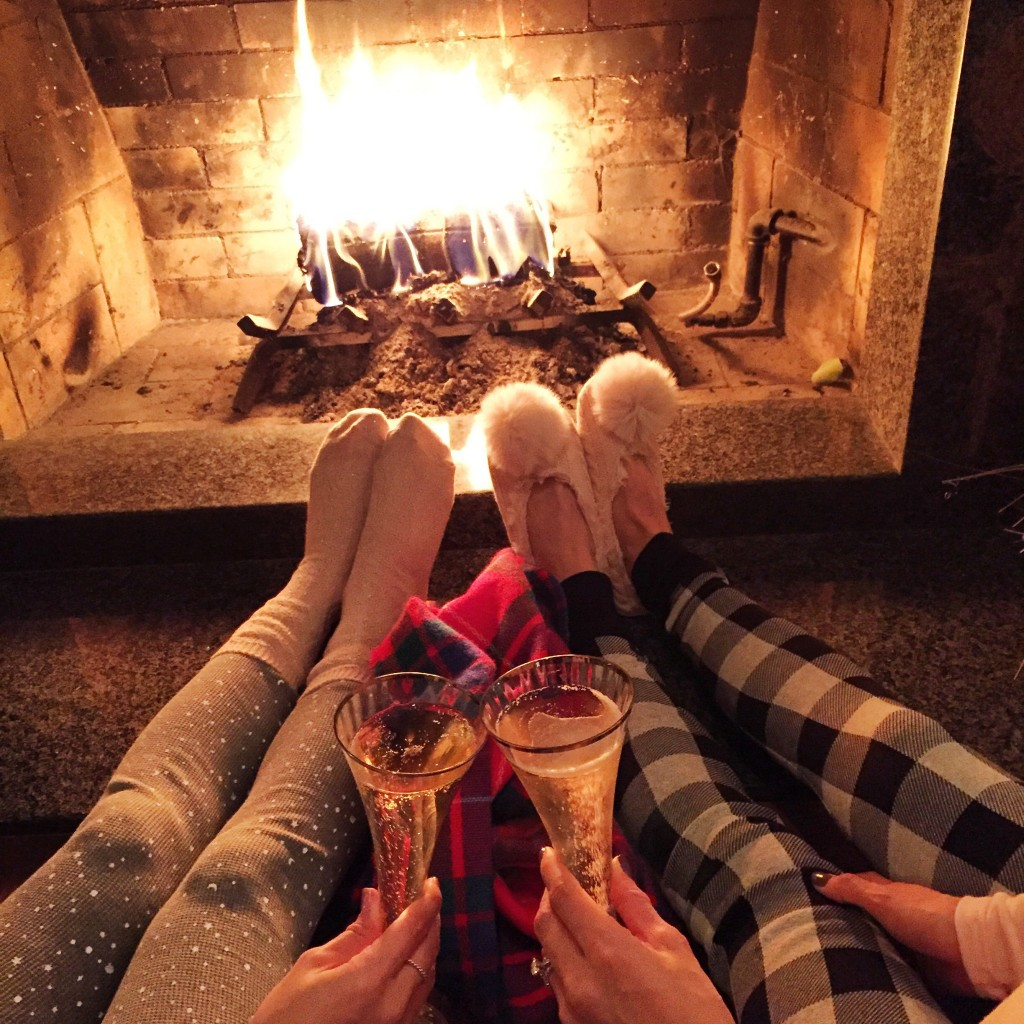 cozy fireplace, itsy bitsy indulgences
