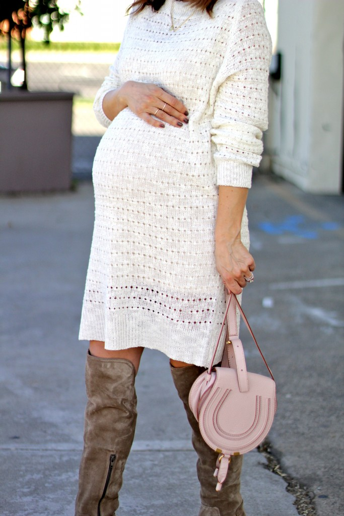 over the knee boots, baby bump, itsy bitsy indulgences