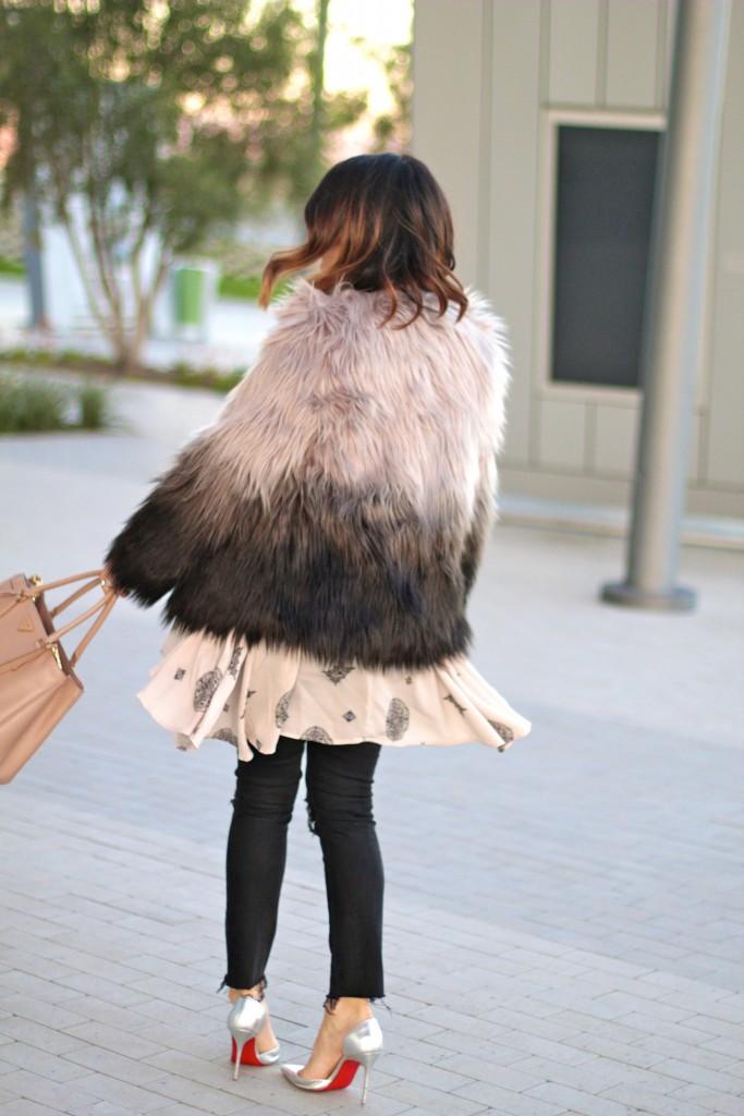 faux fur jacket, itsy bitsy indulgences