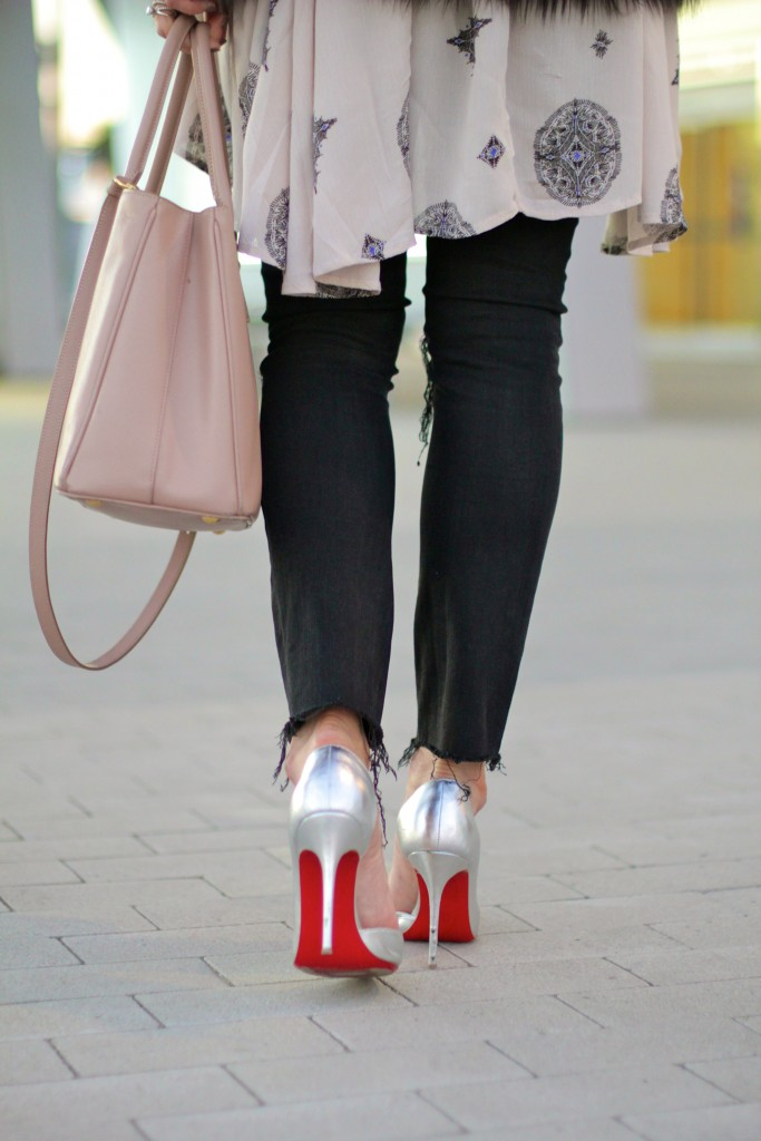 silver christian louboutin pumps, itsy bitsy indulgences