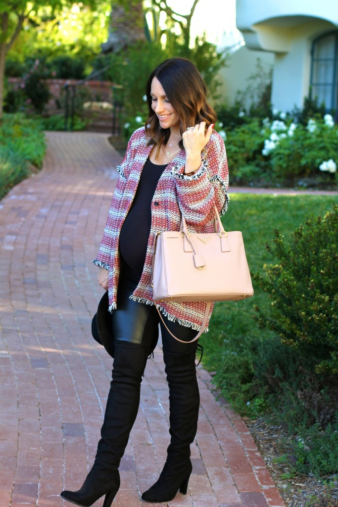 pregnancy style, over the knee boots, itsy bitsy indulgences