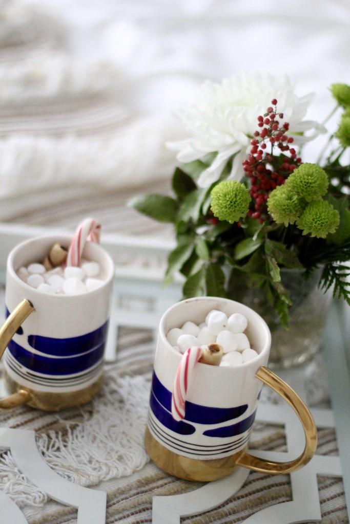 Christmas hot coco, itsy bitsy indulgences