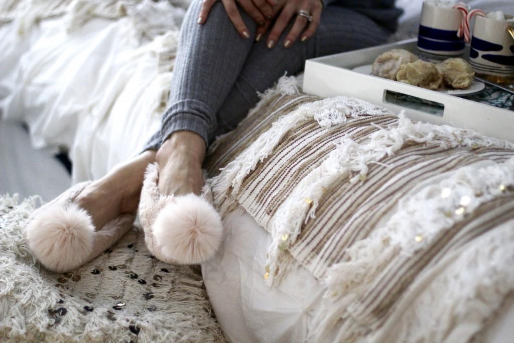 pom pom slippers, itsy bitsy indulgences