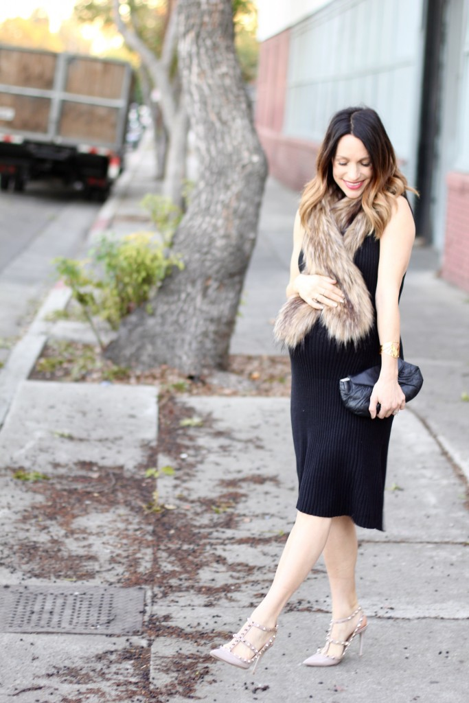 lbd and faux fur, itsy bitsy indulgences