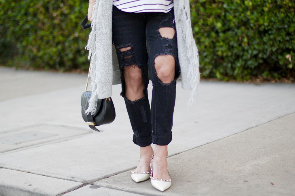 ripped denim and studded flats, itsy bitsy indulgences