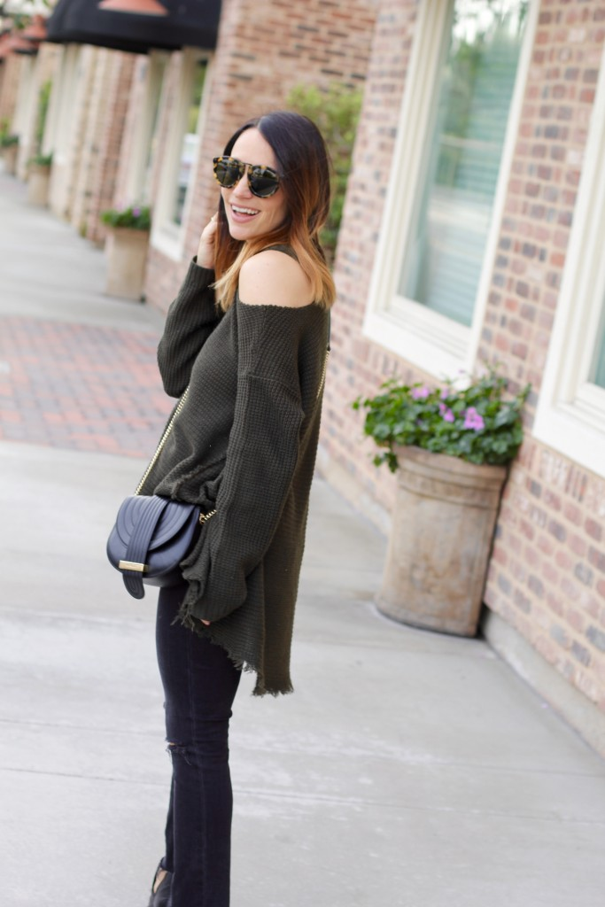 open shoulder sweater, itsy bitsy indulgences