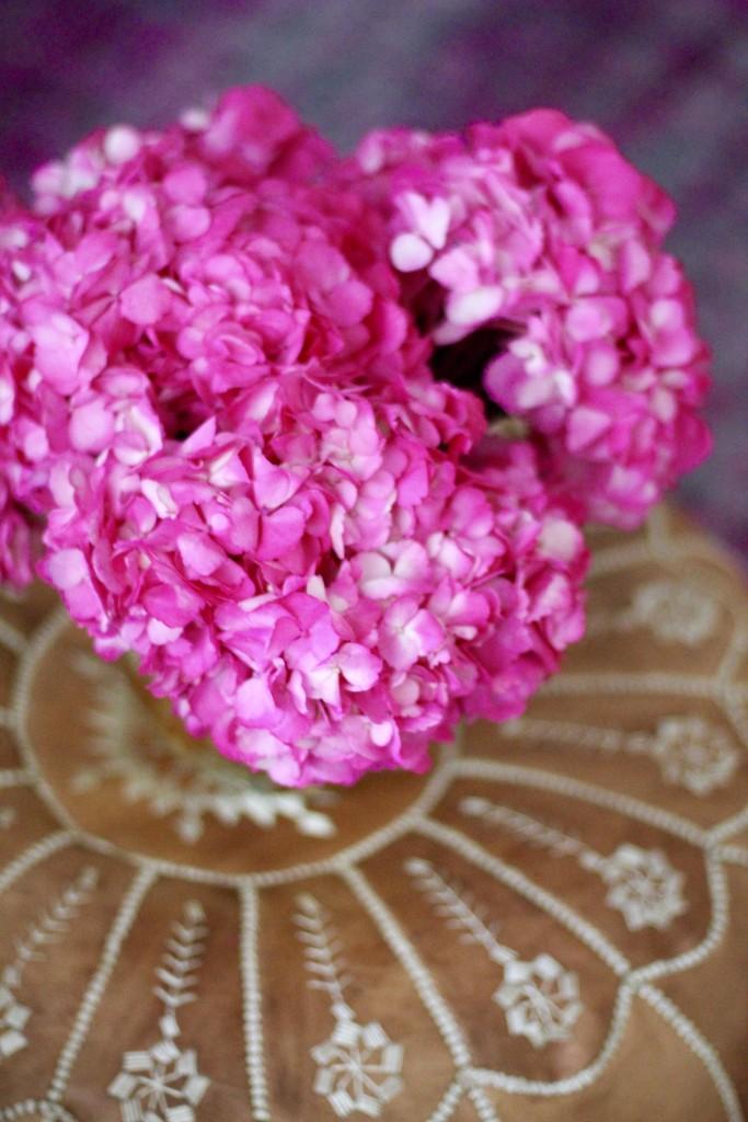 pink hydragneas, itsy bitsy indulgences