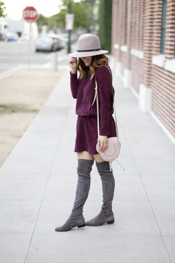 over the knee boots, shirtdress, itsy bitsy indulgences