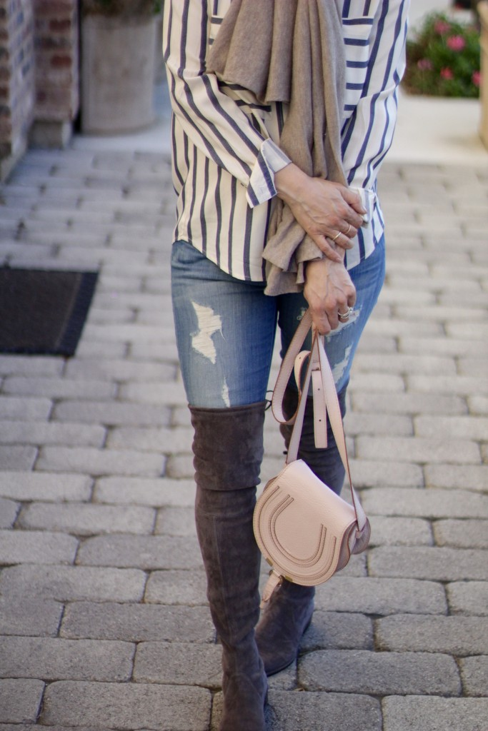 distressed denim x over the knee boots, itsy bitsy indulgences