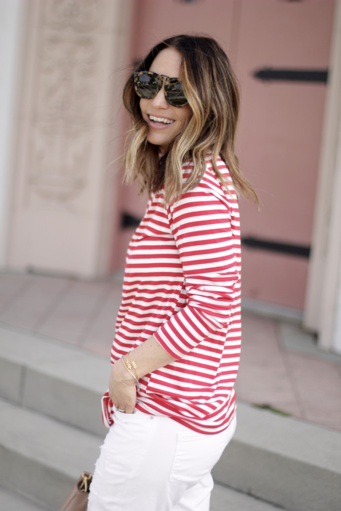 red and white stripe top, itsy bitsy indulgences