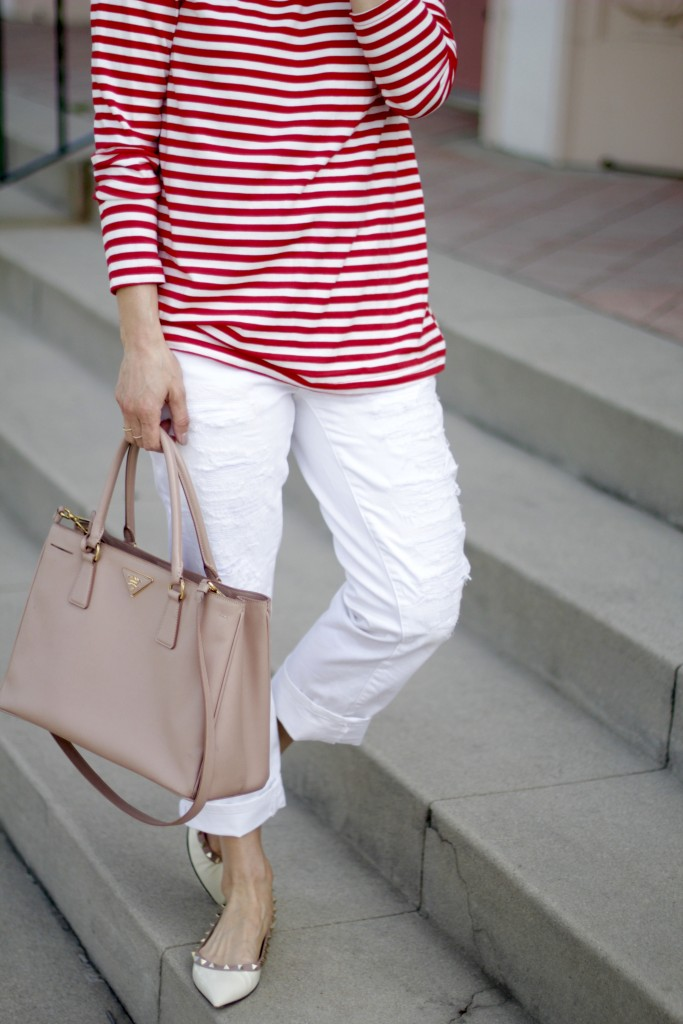 distressed white jeans, itsy bitsy indulgences