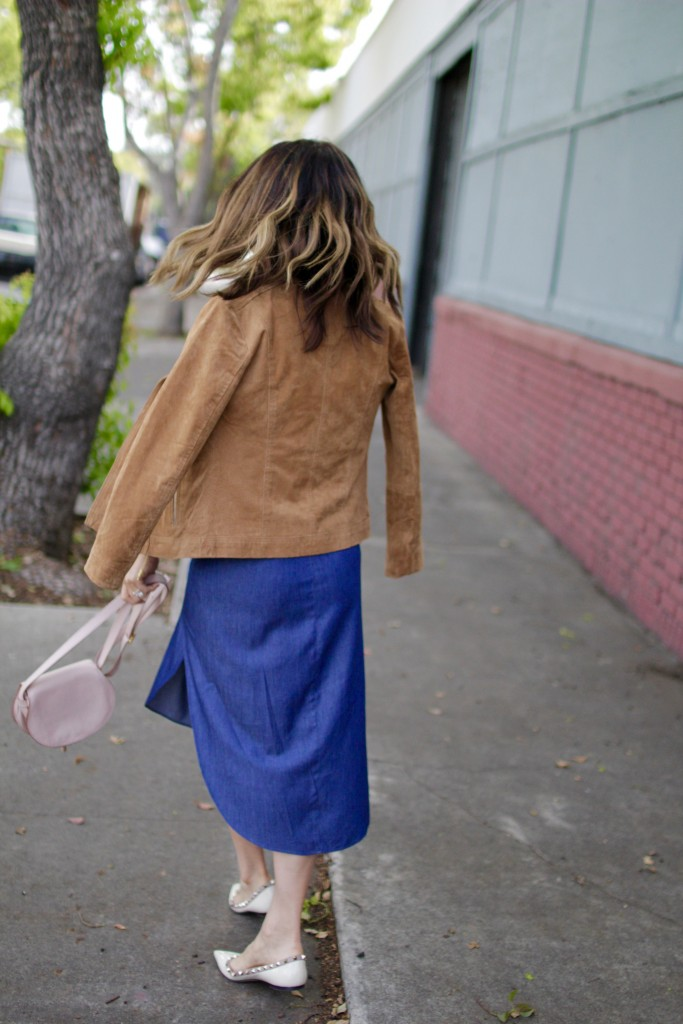 chambray and suede, itsy bitsy indulgences