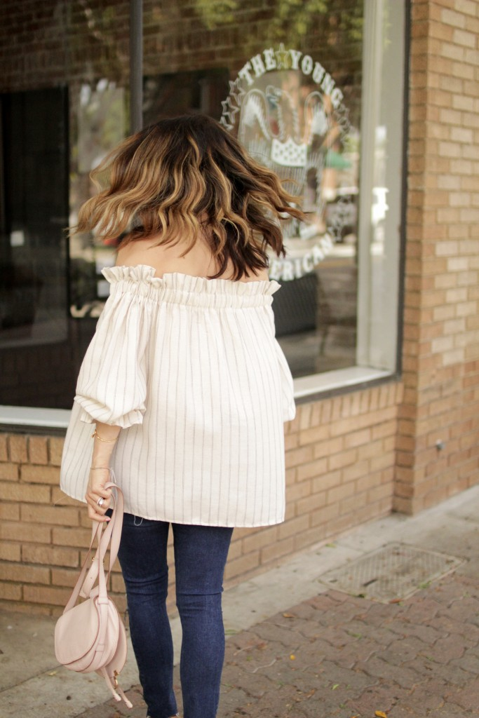 off the shoulder top, itsy bitsy indulgences