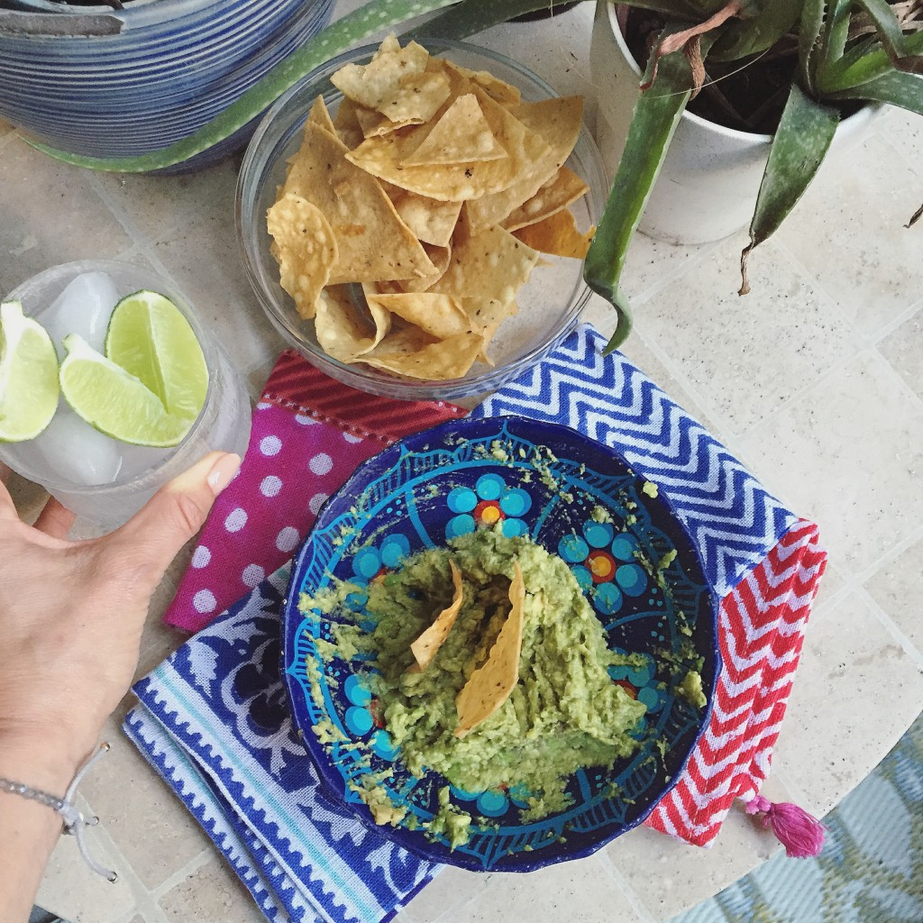 chips and guacamole, itsy bitsy indulgences