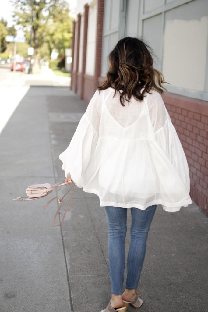 casual white blouse, itsy bitsy indulgences