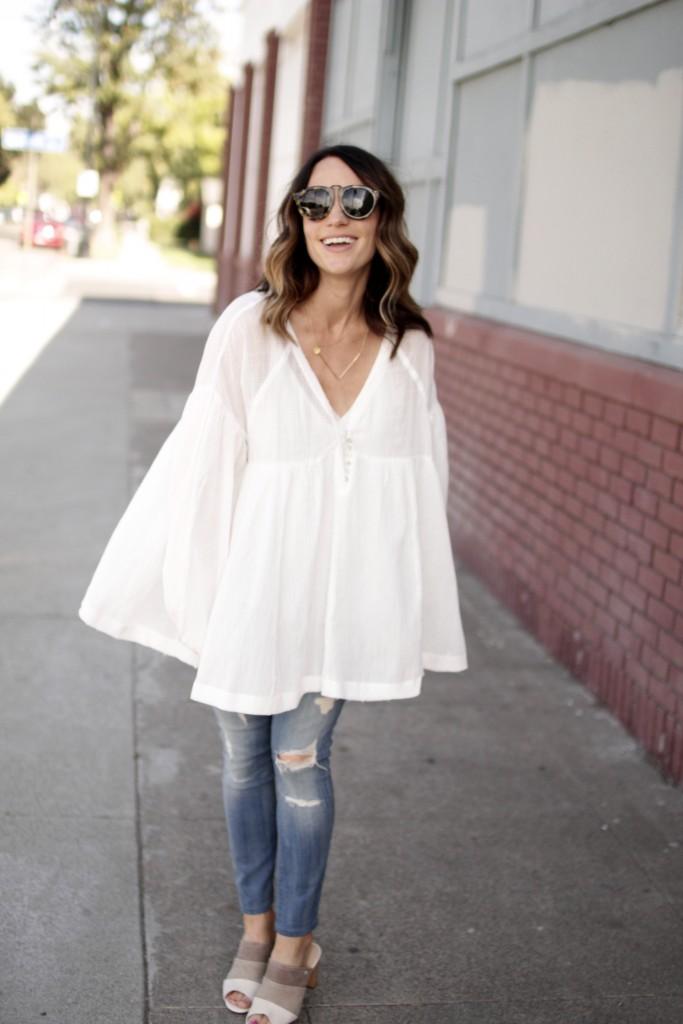 breezy white blouse, itsy bitsy indulgences
