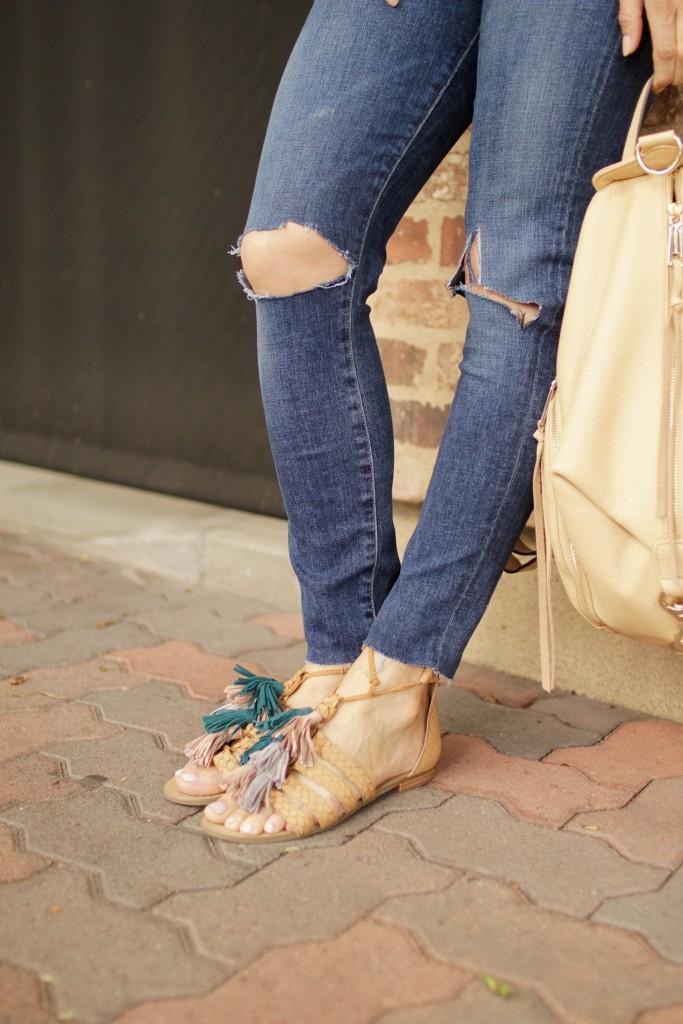 tassel sandals, itsy bitsy indulgences