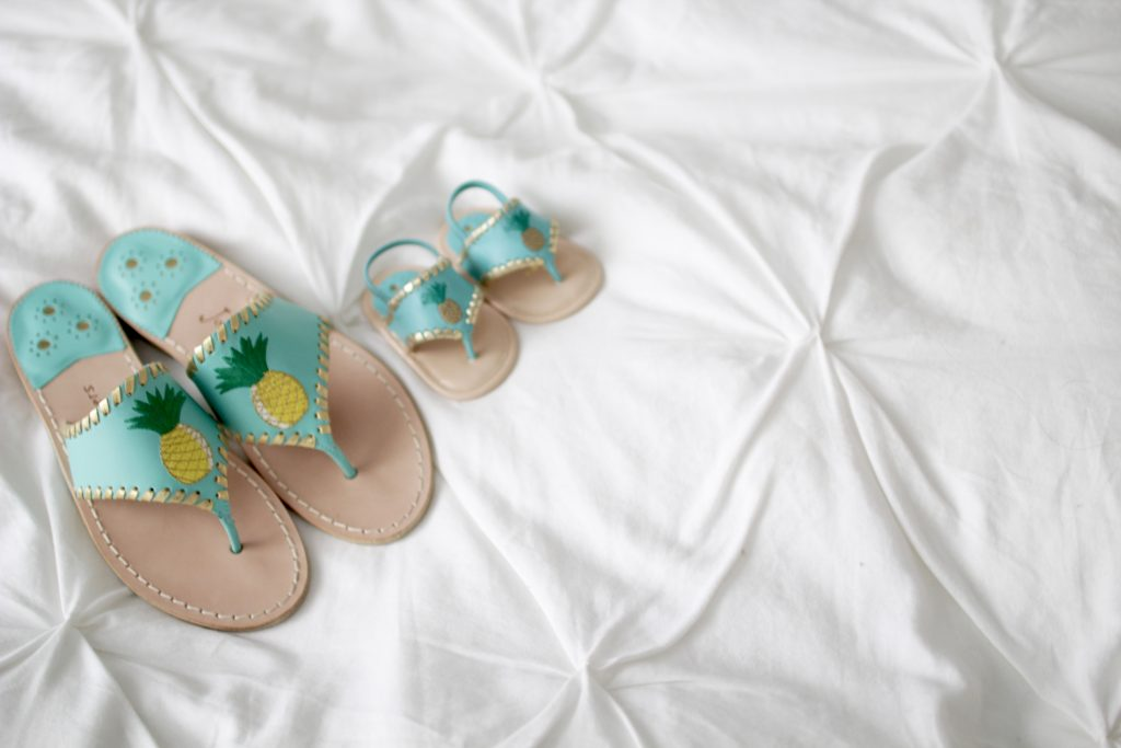 jack rogers pineapple sandals, itsy bitsy indulgences