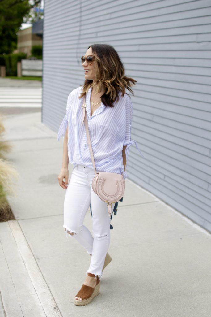 white distressed denim, itsy bitsy indulgences
